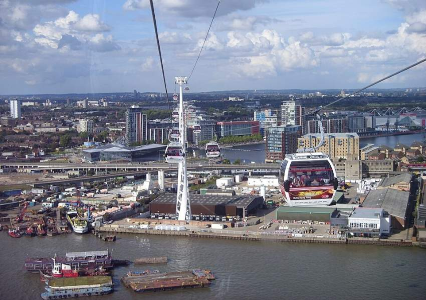 A view from the Emirates cable car