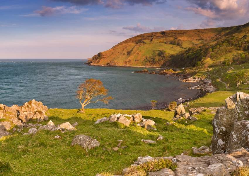 A coast and bay in Northern Ireland
