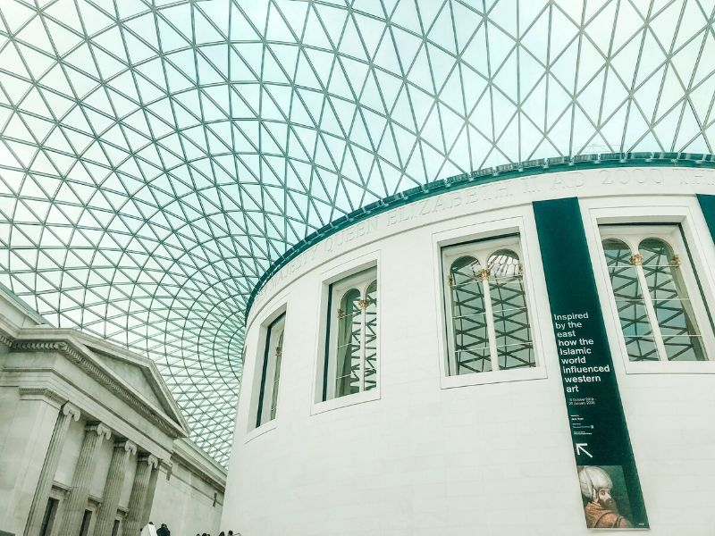 The atrium at the British Museum