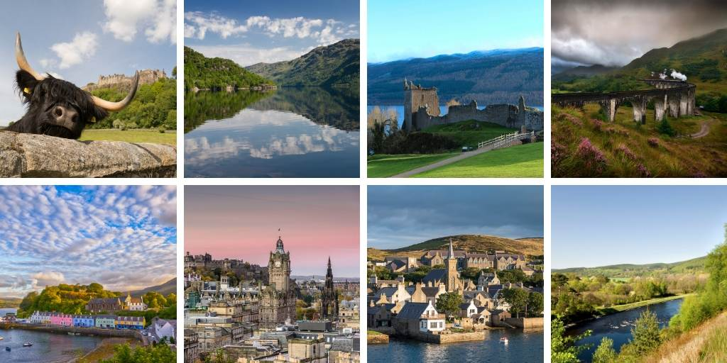 ten pictures of places in Scotland