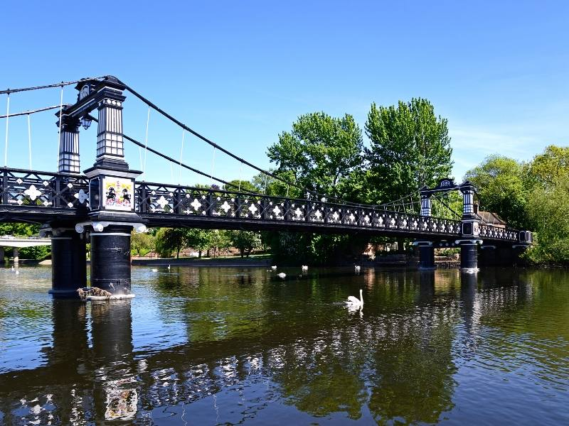 Bridge over the River Trent in Burton one of my recommended places to visit in the West Midlands