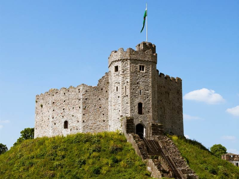 Cardiff Castle in Cardiff Wales