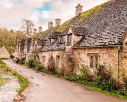 The village of Bibury in the Cotswolds
