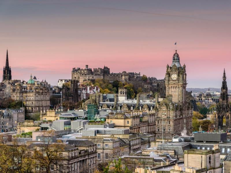 A view of the city of Edinburgh one of many popular places to visit in Scotland