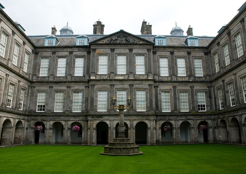 Palace of Holyrood in Edinburgh