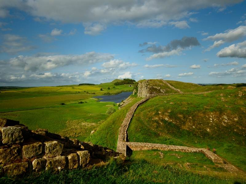 A photo of Hadrian's Wall one of my recommended places to visit in North East England
