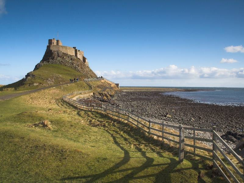 A photo showing Lindisfarne Castle   one of the top 10 places to visit in North East England