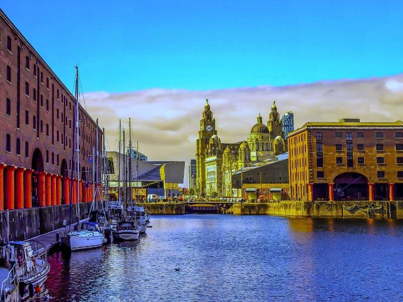 A picture of Albert Dock in Liverpool one of the top places to visit in North West England