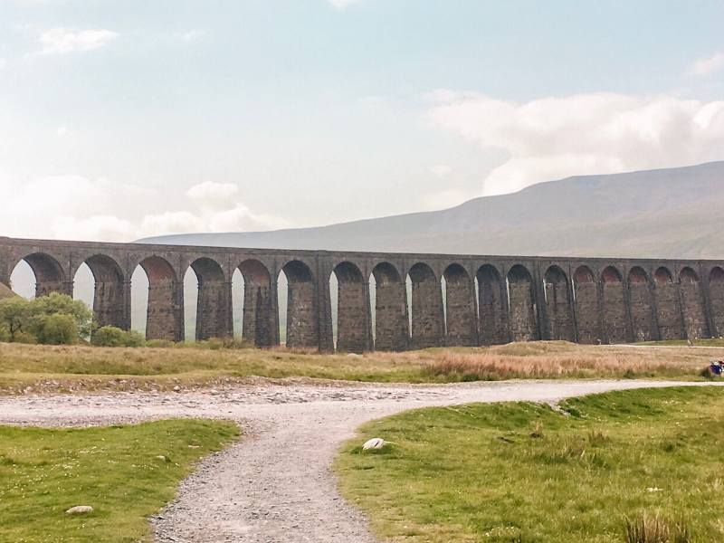 A picture of the Ribblehead Viaduct in England