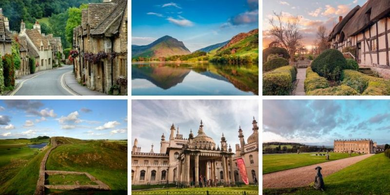 Picture of 6 famous landmarks in England