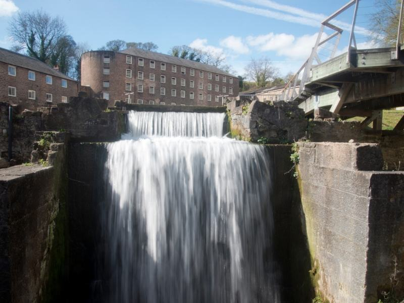 A picture of Cromford Mills in Derbyshire which is one of my recommended places to visit in the East Midlands