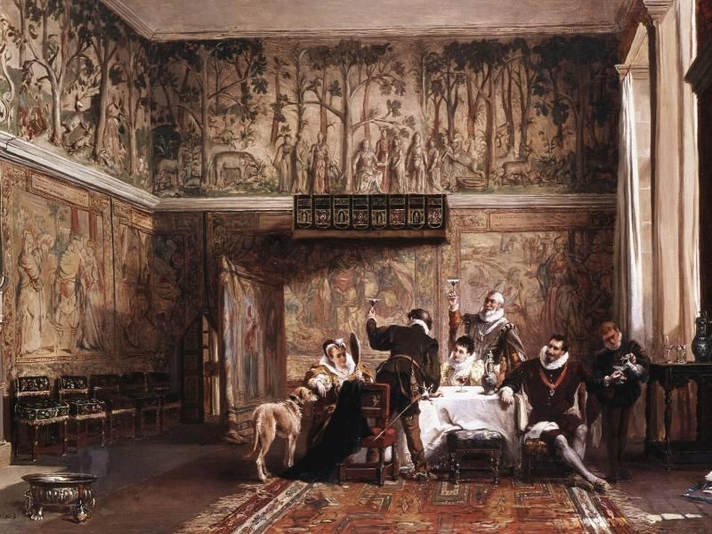A medieval banquet scene