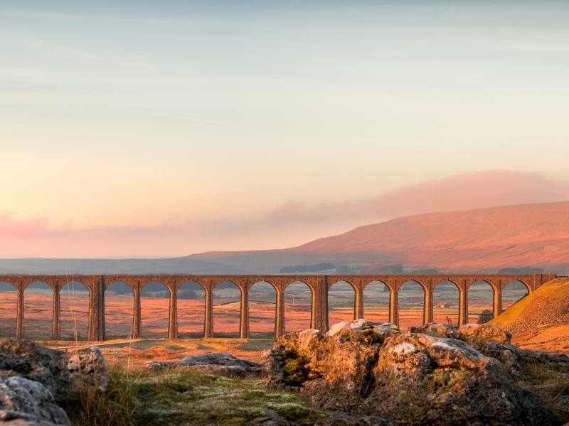 Ribblehead Viaduct at sunset