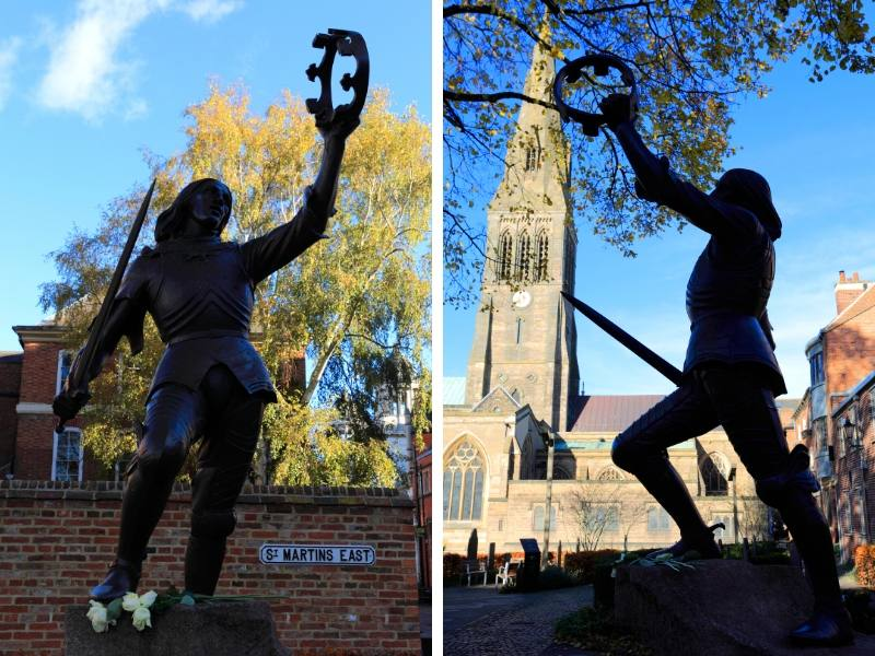 A statue of Richard III in Leicester England