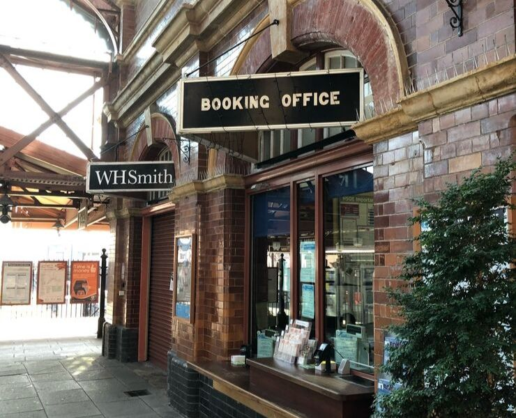 UK booking office at a train station