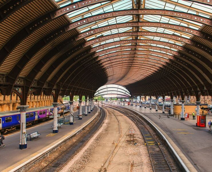 Inside York Train station in England