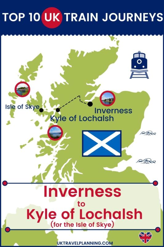Traveling the UK by rail is a wonderful way to see the country. Check out our top 10 train trips and scenic rail journeys to take across the UK. Inverness to the Kyle of Lochalsh #UK #travel #trains #rail #railway