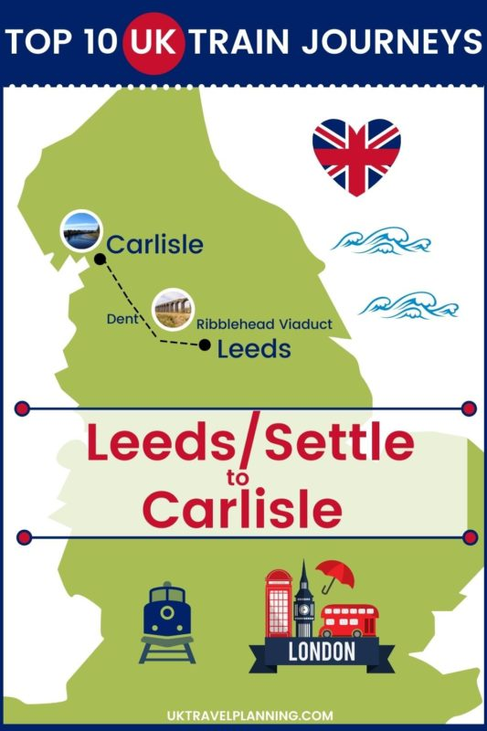 Traveling the UK by rail is a wonderful way to see the country. Check out our top 10 train trips and scenic rail journeys to take across the UK. Leeds to Carlisle #UK #travel #trains #rail #railway