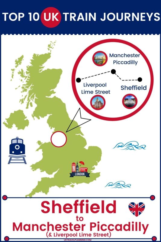 Traveling the UK by rail is a wonderful way to see the country. Check out our top 10 train trips and scenic rail journeys to take across the UK. Sheffield to Manchester Piccadilly #UK #travel #trains #rail #railway