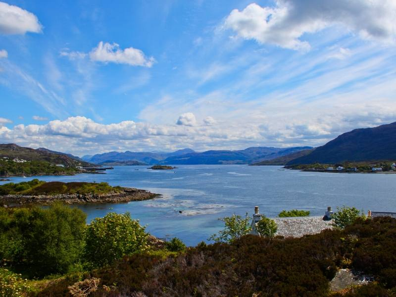 View of the Kyle of Lochalsh in Scotland