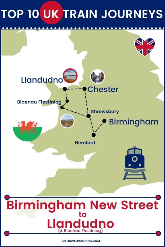Traveling the UK by rail is a wonderful way to see the country. Check out our top 10 train trips and scenic rail journeys to take across the UK. Birmingham New Street to Llandudno #UK #travel #trains #rail #railway