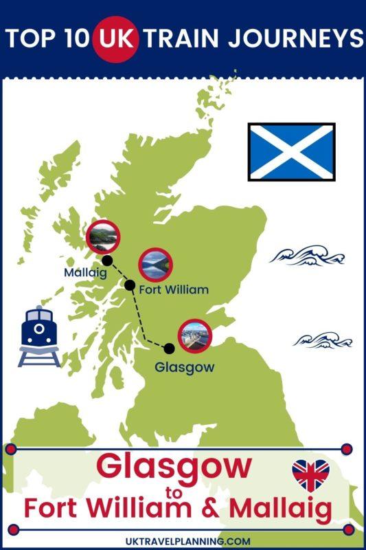 Traveling the UK by rail is a wonderful way to see the country. Check out our top 10 train trips and scenic rail journeys to take across the UK. Glasgow to Port William and Mallaig #UK #travel #trains #rail #railway