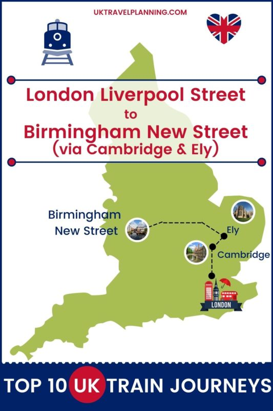 Traveling the UK by rail is a wonderful way to see the country. Check out our top 10 train trips and scenic rail journeys to take across the UK. London Liverpool Street to Birmingham New Street #UK #travel #trains #rail #railway