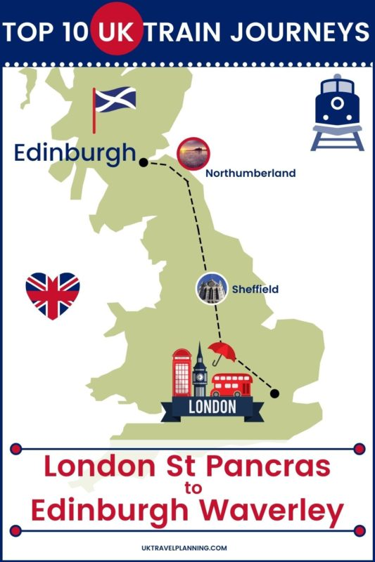 Traveling the UK by rail is a wonderful way to see the country. Check out our top 10 train trips and scenic rail journeys to take across the UK. London St Pancras to Edinburgh Waverley #UK #travel #trains #rail #railway