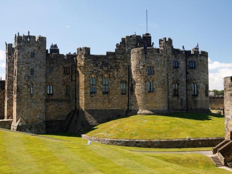 Alnwick Castle one of the most famous castles in England