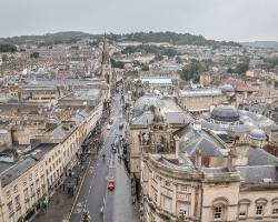 The centre of Bath a perfect place to stay according to the England Accommodation Guide