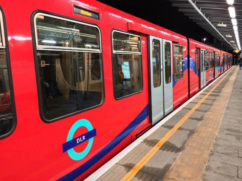 Tube train in London