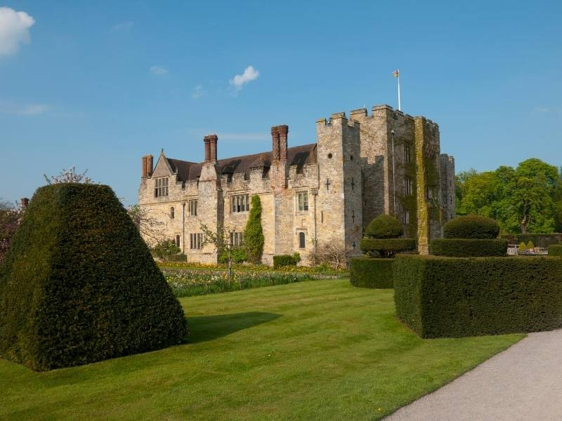 Hever Castle is a magnificent castle near London to add into your itinerary