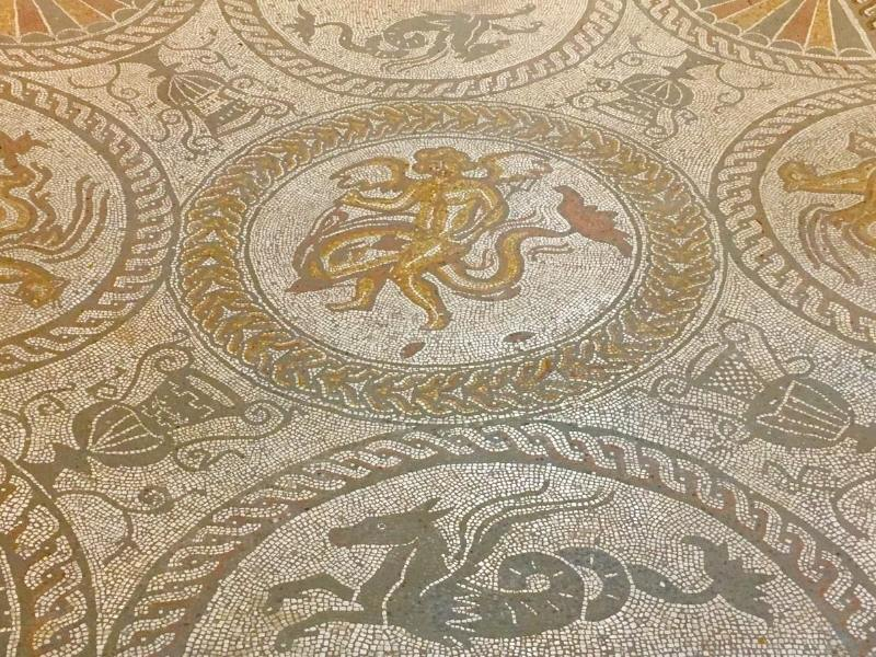 Roman mosaic floor at Fishbourne
