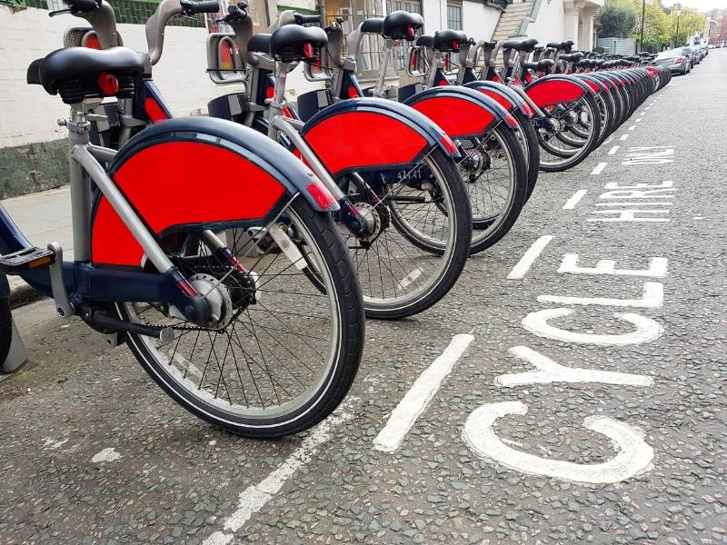 Santander bikes a great way of getting around London