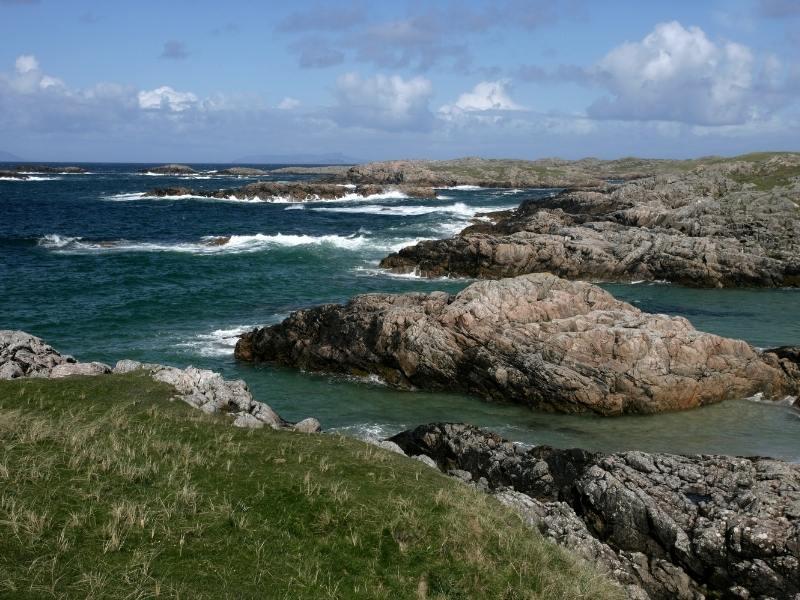 Rocks along the coast of Coll