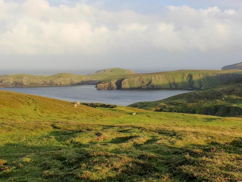 View of Fair Isle one of the best Scottish islands