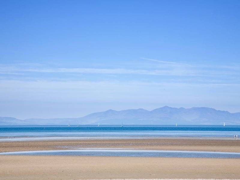 View of the beach on the Isle of Arran one of the best Scottish islands