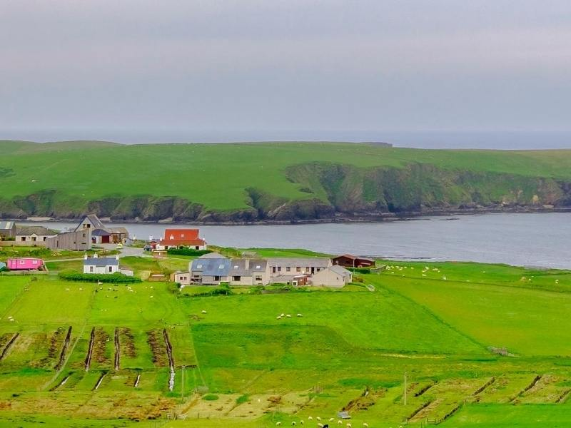 Mainland one of the Shetland Isles
