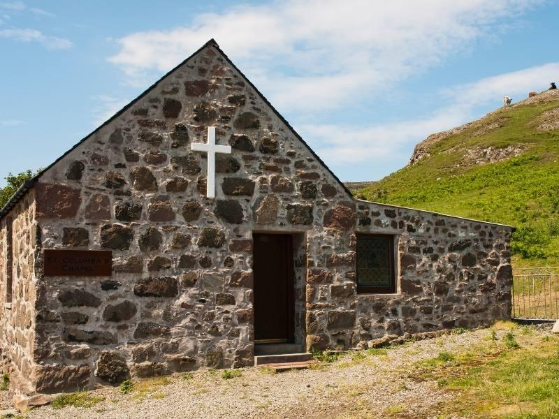 Church on the island of Canna
