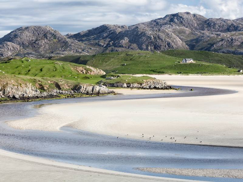 Beach on the island of Lewis