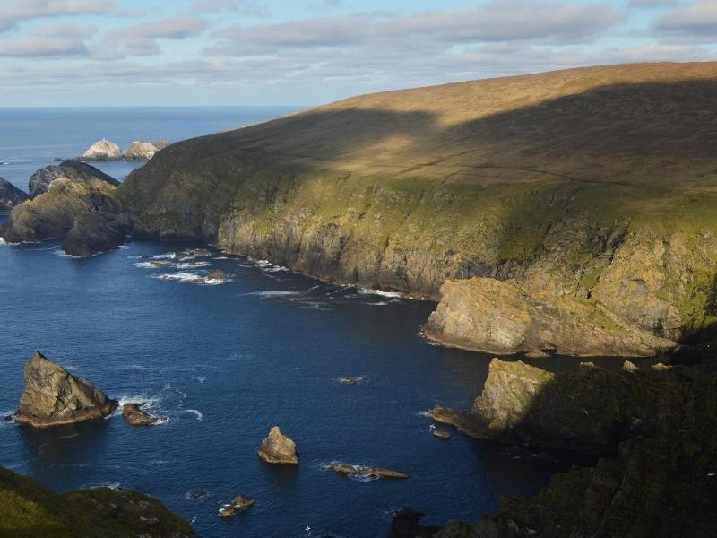 View of the coast of Unst