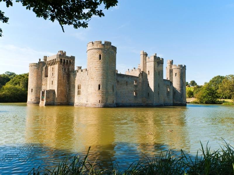 Bodiam castle is one of England best castles to visit