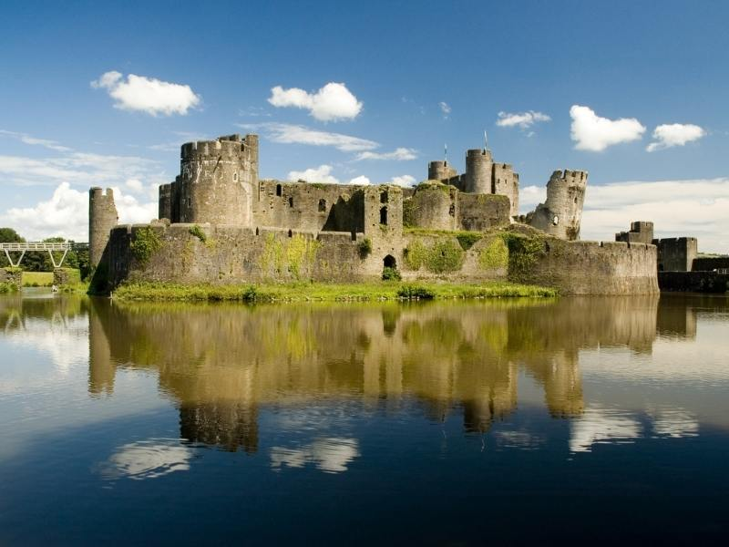 Caerphilly Castle one of the best castles in Wales to visit