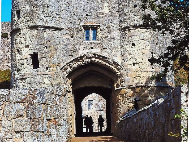 The entrance to Carisbrooke Castle on the Isle of Wight