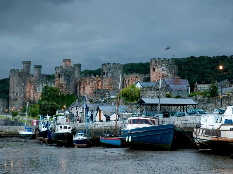 Conwy Castle one of the best castles in Wales to visit