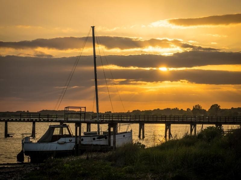 Boats along the Suffolk coast