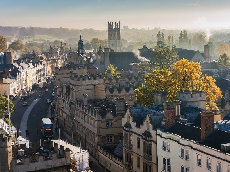 A view over the city of Oxford