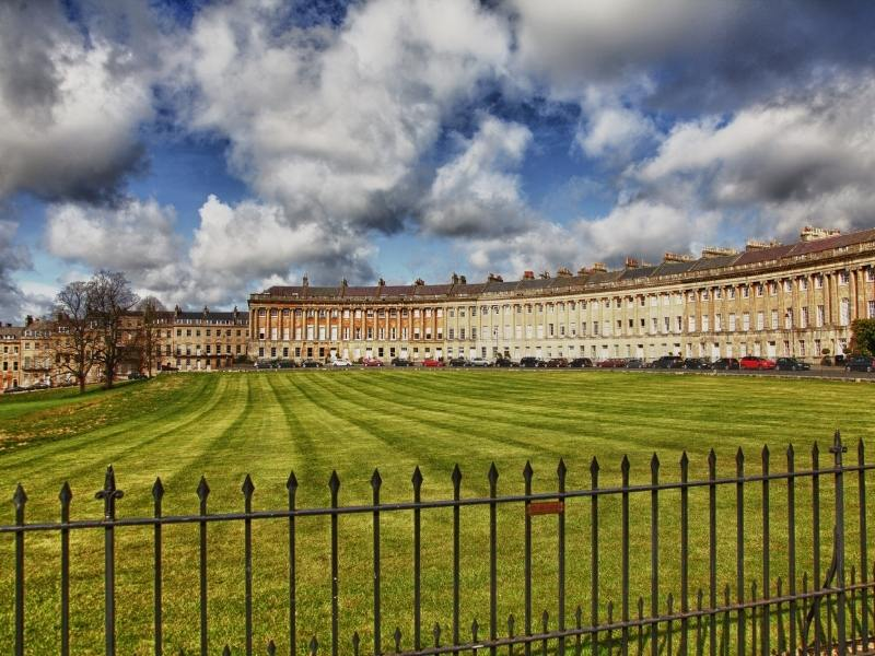 The Royal Crescent in Bath one of the best cities in England to visit