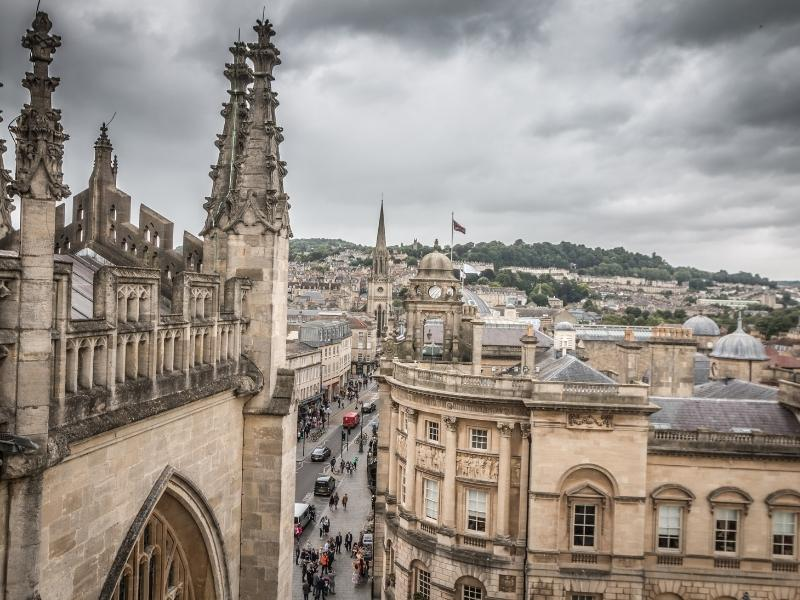 Bath England view from the Abbey