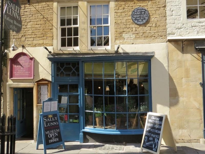 Exterior of Sally Lunn's bakery in Bath